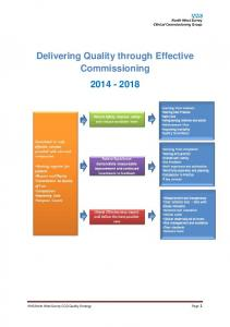 Delivering Quality through Effective Commissioning