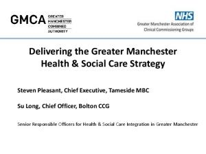 Delivering the Greater Manchester