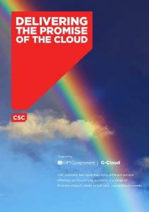 DELIVERING THE PROMISE OF THE CLOUD