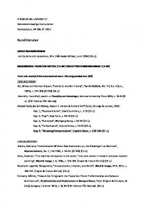 DELKURSERNA TEORI OCH METOD (7,5 HP) OCH LITTERATURSEMINARIUM (7,5 HP)