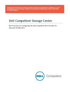 Dell Compellent Storage Center