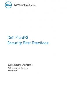 Dell FluidFS Security Best Practices