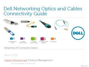 Dell Networking Optics and Cables Connectivity Guide