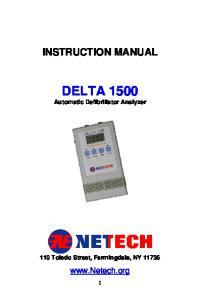 DELTA 1500 Automatic Defibrillator Analyzer