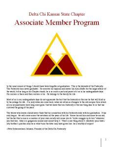 Delta Chi Kansas State Chapter Associate Member Program