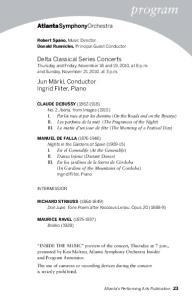 Delta Classical Series Concerts. Thursday and Friday, November 18 and 19, 2010, at 8 p.m. and Sunday, November 21, 2010, at 3 p.m