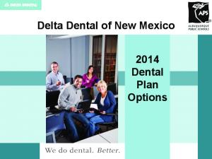 Delta Dental of New Mexico Dental Plan Options