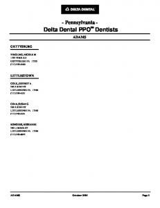Delta Dental PPO SM Dentists