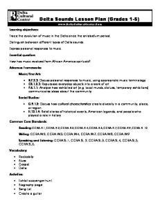 Delta Sounds Lesson Plan (Grades 1-5)