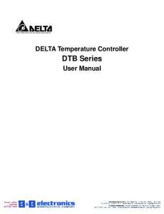 DELTA Temperature Controller DTB Series User Manual