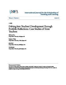 Delving Into Teachers Development Through Portfolio Reflections: Case Studies of Three Teachers
