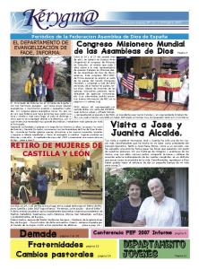Demade pagina 7 al 10 Fraternidades pagina 15 Cambios pastorales pagina 14