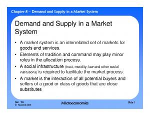 Demand and Supply in a Market System