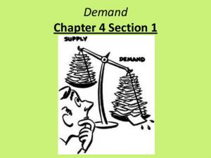 Demand Chapter 4 Section 1