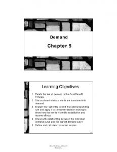 Demand. Chapter 5. Learning Objectives