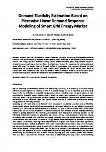 Demand Elasticity Estimation Based on Piecewise Linear Demand Response Modeling of Smart Grid Energy Market