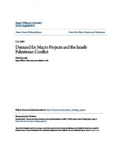 Demand for Macro Projects and the Israeli- Palestinian Conflict