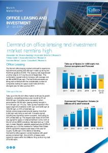 Demand on office leasing and investment market remains high