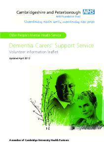 Dementia Carers Support Service