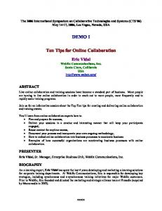 DEMO I. Ten Tips for Online Collaboration