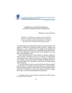 DEMOCRACIA, ESTADO DE DERECHO Y ESTADO CONSTITUCIONAL DE DERECHO