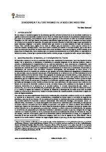 DEMOCRACIA Y AUTORITARISMO EN LA SOCIEDAD MODERNA