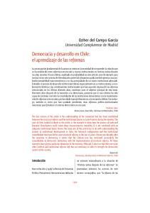 Democracia y desarrollo en Chile: el aprendizaje de las reformas