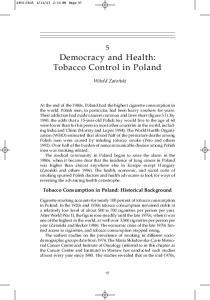 Democracy and Health: Tobacco Control in Poland