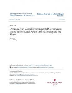Democracy in Global Environmental Governance: Issues, Interests, and Actors in the Mekong and the Rhine