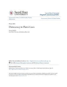 Democracy in Plato's Laws