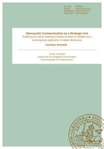 Democratic Communication as a Strategic tool