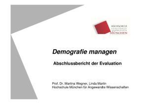 Demografie managen Abschlussbericht der Evaluation