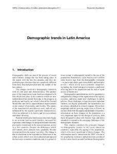 Demographic trends in Latin America