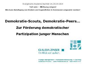 Demokratie-Scouts, Demokratie-Peers