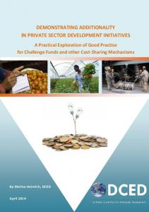 DEMONSTRATING ADDITIONALITY IN PRIVATE SECTOR DEVELOPMENT INITIATIVES