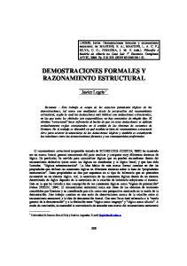 DEMOSTRACIONES FORMALES Y RAZONAMIENTO ESTRUCTURAL