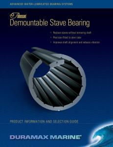 Demountable Stave Bearing