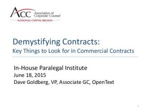Demystifying Contracts: Key Things to Look for in Commercial Contracts