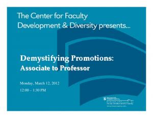 Demystifying Promotions: Associate to Professor