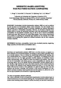 DENDRITIC-BASED ADDITIVES FOR POLYMER MATRIX COMPOSITES