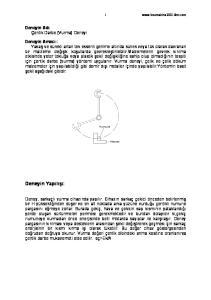 Deneyin Yapılışı: Deneyin Adı Çentik Darbe (Vurma) Deneyi