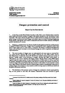 Dengue: prevention and control