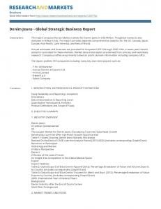 Denim Jeans - Global Strategic Business Report