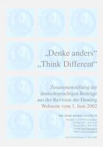 Denke anders Think Different