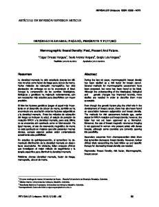 DENSIDAD MAMARIA: PASADO, PRESENTE Y FUTURO. Abstract