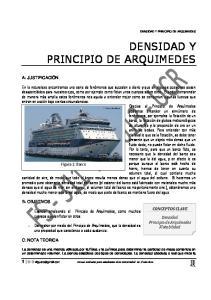 DENSIDAD Y PRINCIPIO DE ARQUIMEDES