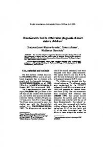 Densitometric test in differential diagnosis of short stature children *