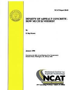 DENSITY OF ASPHALT CONCRETE - HOW MUCH IS NEEDED?