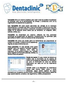 Dentaclinic G2 Con Dentaclinic G2 Dentaclinic Dentaclinic G2 Datos generales: Estado de cuenta: