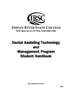 Dental Assisting Technology and Management Program Student Handbook